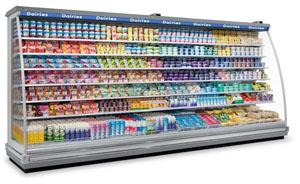 холодильная горка для молочных продуктов
